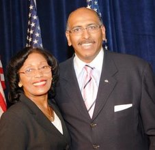 Frances Rice with RNC Chairman Michael Steele