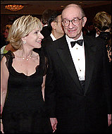 Andrea Mitchell, who knows better what's good for us, with husband Alan Greenspan