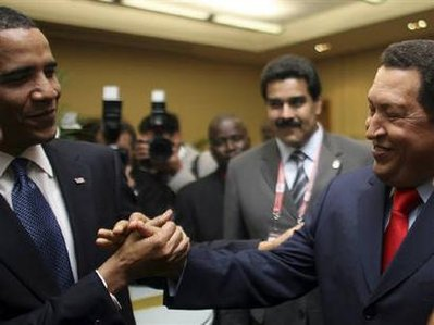 BFF Obama and Chavez
