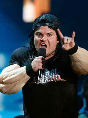 Jack Black salutes Satan at the 2009 MTV Music Awards