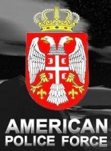 The American Police Force's logo is the Serbian flag