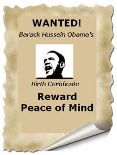 Birth certificate poster