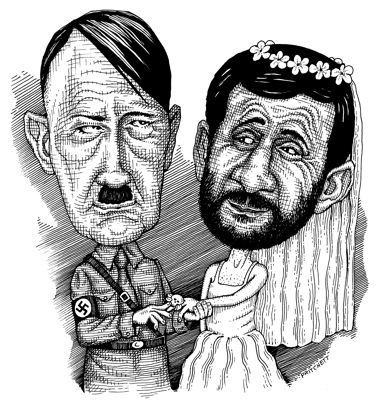 Separated at birth: Hitler and Ahmadinejad
