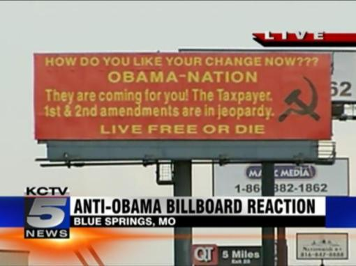 Obama HiWay Sign Montana